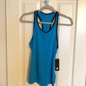 NWT Adidas Climalite Blue Tank Top Size S